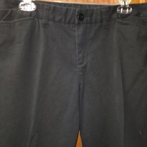 Gap Women's Stretch Black Khaki Pants